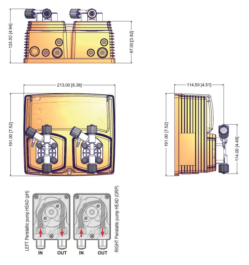 wymiary pompy emec wdphcl
