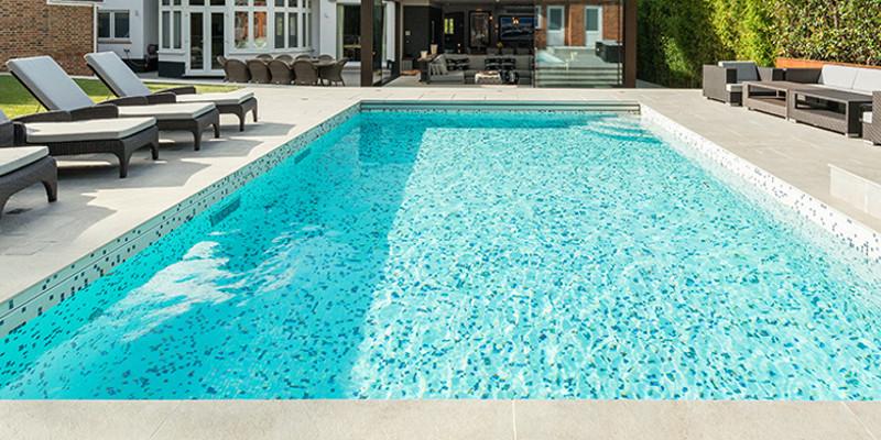 Wygląd basenu wykonanego z mozaiką Mojito