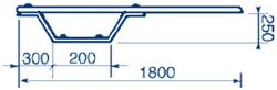 Trampolina Ballesta 1,8 m