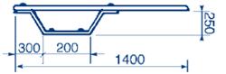Trampolina Ballesta 1,4 m
