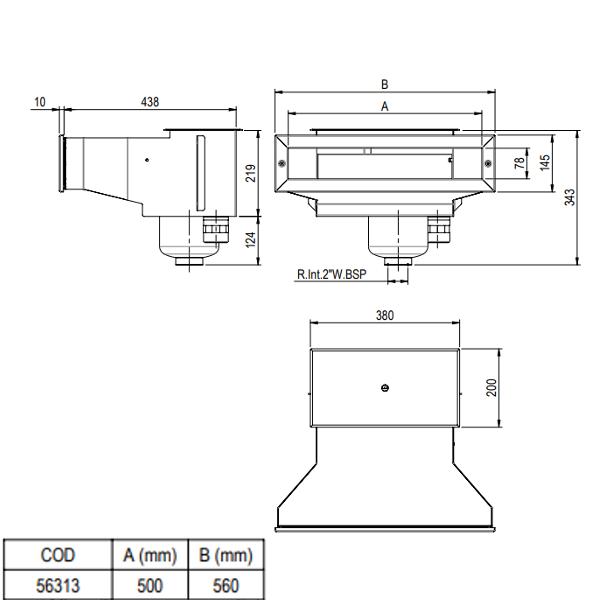 Schemat Skimmera A500 wide