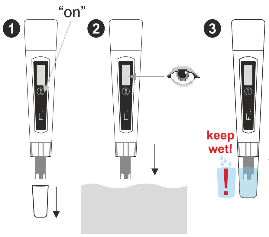 jak wykonac pomiar ph testerem water id ft 11